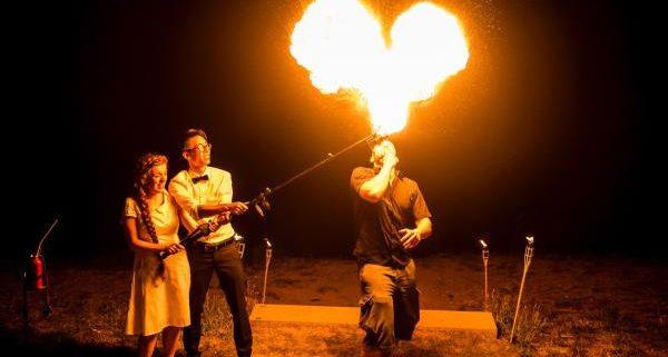 Feuershow zur Hochzeit 1