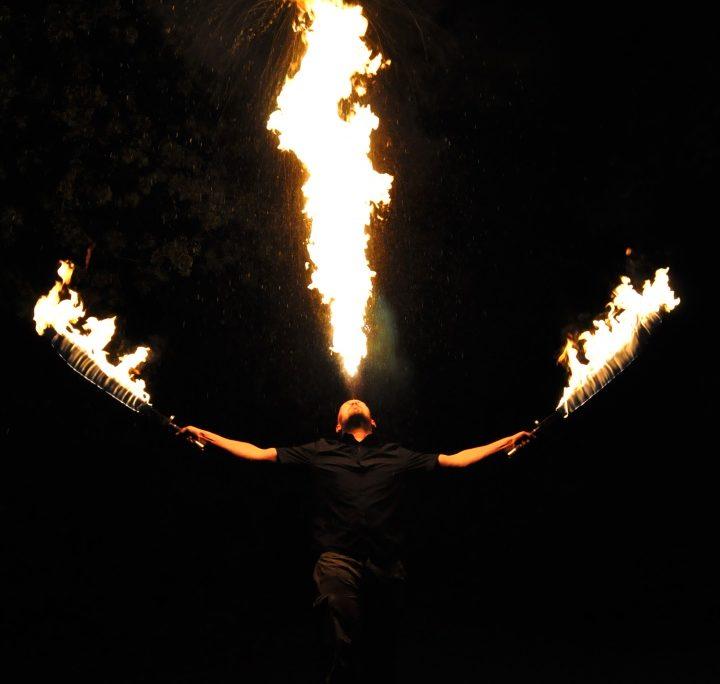 Flamme hoch