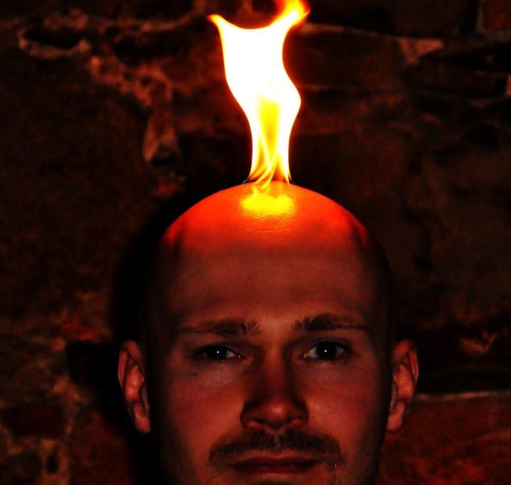die Kopfhaut brennt etwas