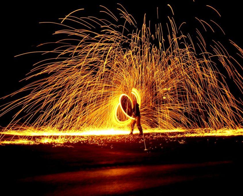 Finale der Feuershow