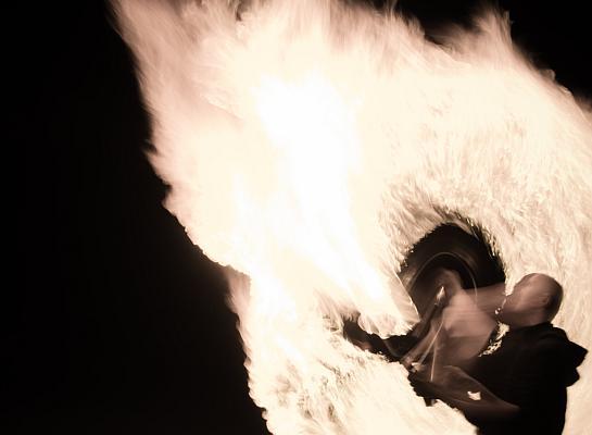 Portfolio Feuershow Fotoshooting 3
