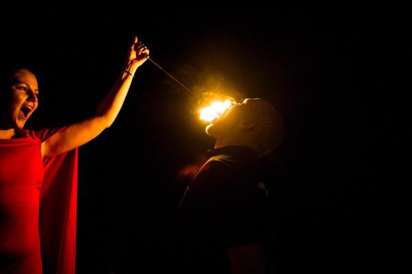 Feuershow zur Hochzeit 2